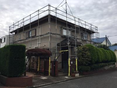 寒川町宮山K様邸 屋根塗装、外壁塗装工事