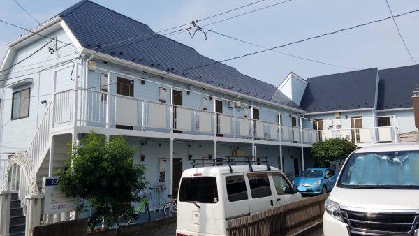 茅ヶ崎市 N様アパート 外壁・屋根・付帯部塗装・コーキング打ち替え・共用廊下長尺張り替え工事