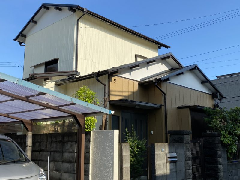 茅ヶ崎市 H様邸 外壁・屋根・付帯部塗装・軒天張り替え・波板交換工事