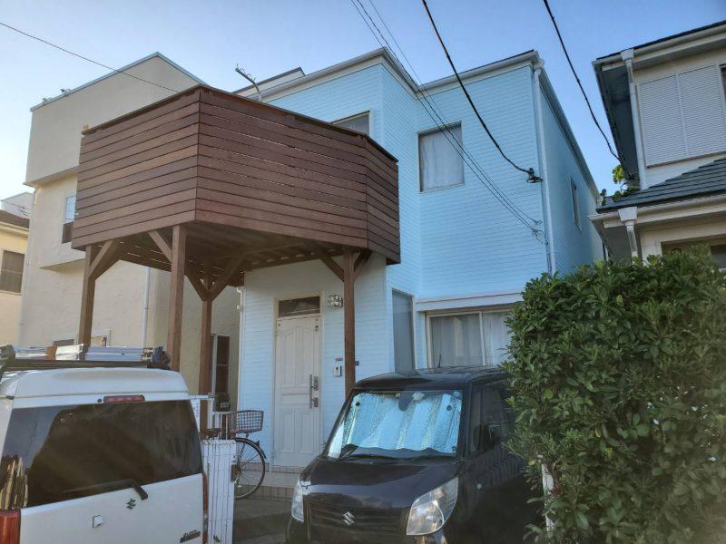 茅ヶ崎市 N様邸 外壁・屋根・コーキング・ウッドデッキ新設工事