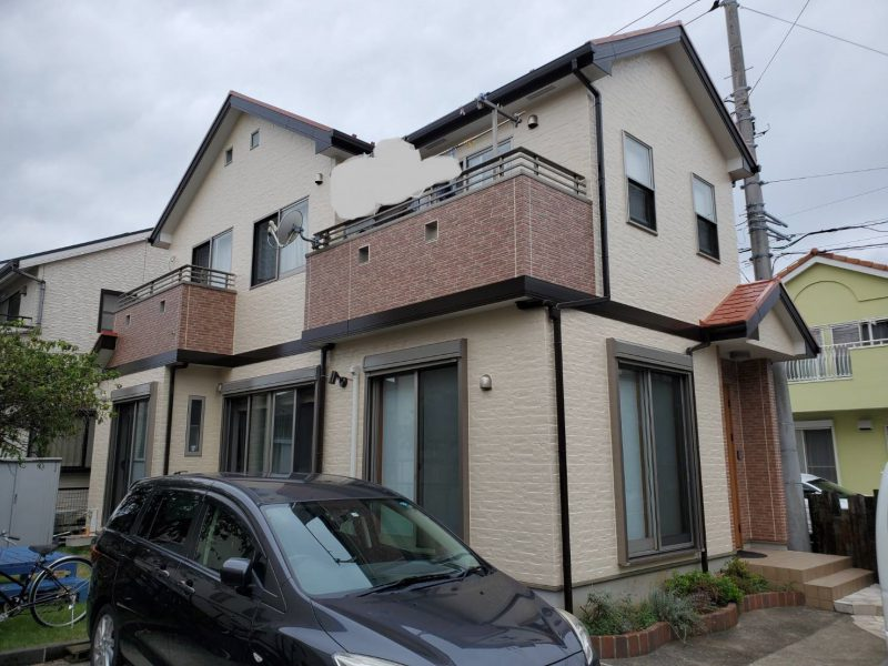 茅ヶ崎市 S様邸 コーキング・外壁・屋根・バルコニー防水工事