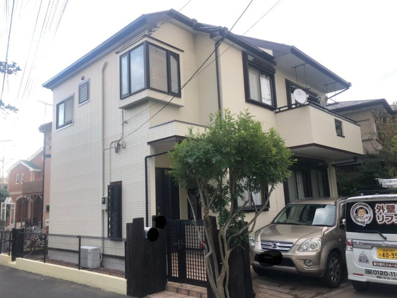 茅ヶ崎市 A様邸 外壁・屋根塗装・コーキング・バルコニー防水工事