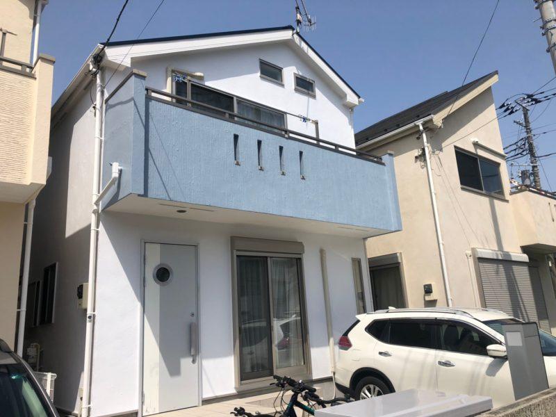 茅ヶ崎市 K様邸 外壁・屋根・付帯部塗装・バルコニー防水工事